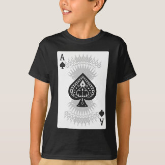 Ace of Spades Poker Card: T-Shirt