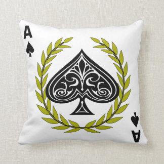Ace of Spades Regal Wreath Throw Pillow