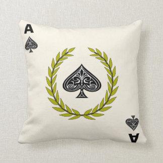 Ace of Spades Royal Flush Edition Throw Pillow
