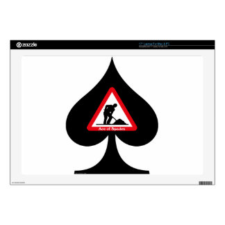 "Ace of Spades 17"" Laptop Decal"