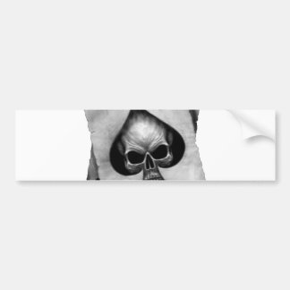 Ace of Spades Skull Bumper Sticker