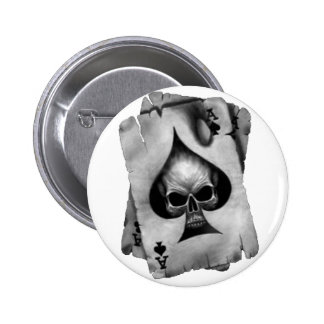 Ace of Spades Skull Buttons