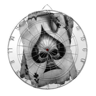 Ace of Spades Skull Dartboard With Darts