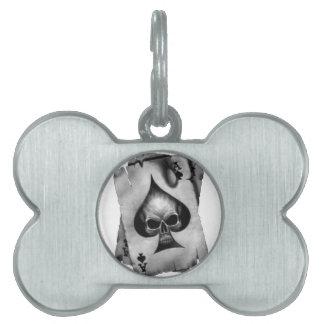 Ace of Spades Skull Pet ID Tag