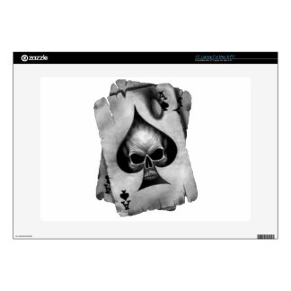 """Ace of Spades Skull Decal For 15"""" Laptop"""