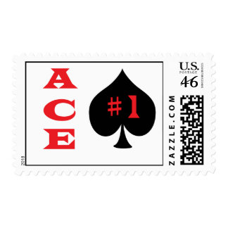 Ace of spades stamp