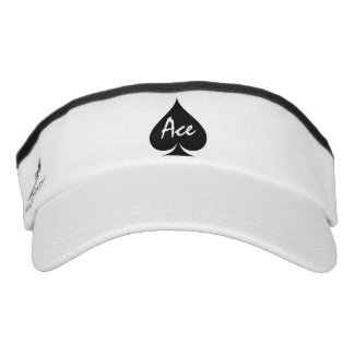 Ace of spades sun visor cap hat for poker player