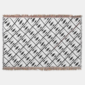 Ace of spades tiled pattern throw blanket