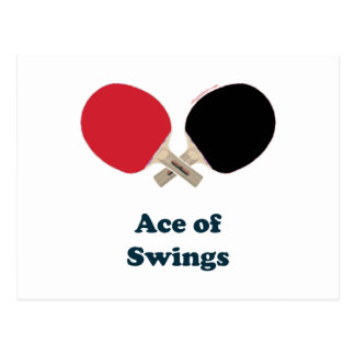 Ace of Swings Ping Pong Postcard