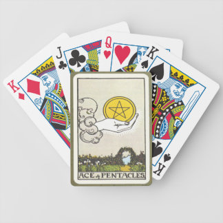 Ace Pentacles Fortune Teller Tarot Card Bicycle Playing Cards