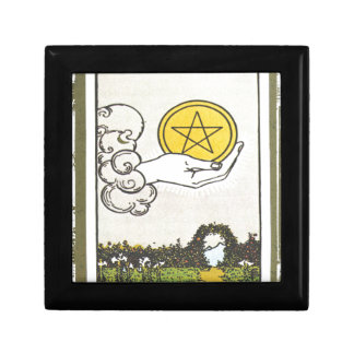 Ace Pentacles Fortune Teller Tarot Card Gift Box
