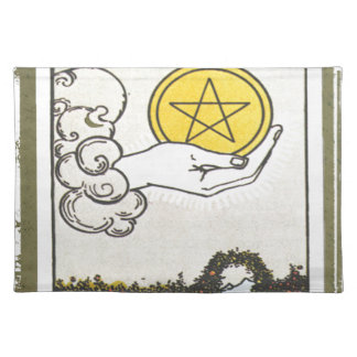 Ace Pentacles Fortune Teller Tarot Card Placemat