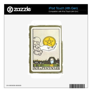Ace Pentacles Fortune Teller Tarot Card Skin For iPod Touch 4G