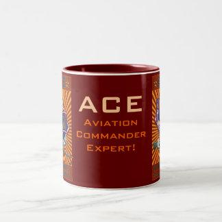 ACE-Pilot/Co-Pilot Two-Tone Coffee Mug