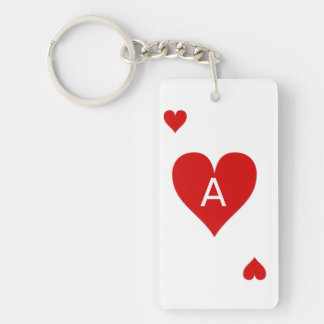 Ace playing card keychain