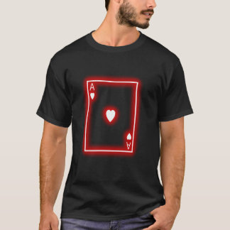 Ace poker card gamble casino winner ace of hearts T-Shirt