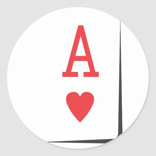 Ace product classic round sticker