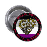 Ace Robot Pride - Small 2 Inch Round Button