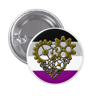 Ace Robot Pride - Tiny 1 Inch Round Button