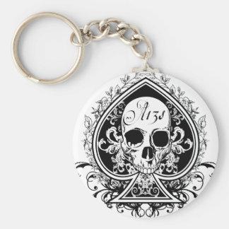 Ace Skull Keychain