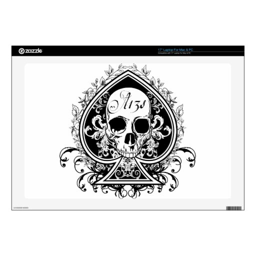 Ace Skull Laptop Skin