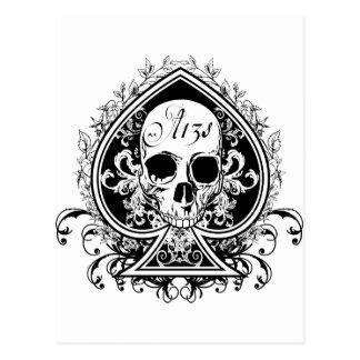 Ace Skull Postcard