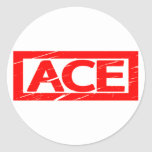 Ace Stamp Classic Round Sticker