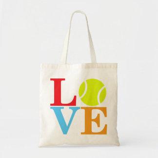 Ace Tennis LOVE Budget Tote Bag