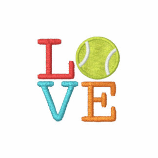 Ace Tennis LOVE Embroidered Hooded Sweatshirt