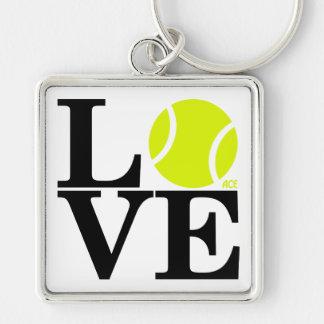 Ace Tennis LOVE Keychain