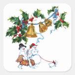 Acebo de Belces de navidad y familia del muñeco de Colcomanias Cuadradases