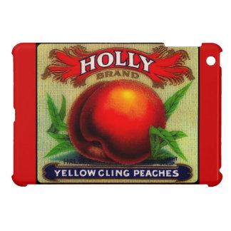 Acebo de la etiqueta del cajón de la fruta del vin iPad mini funda
