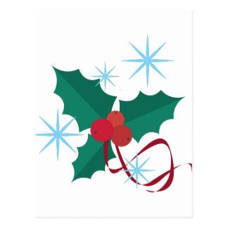 Acebo de Navidad Tarjetas Postales