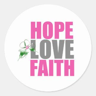 Acebo del navidad de la fe del amor de la pegatinas redondas