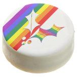 Acebo del navidad del arco iris del orgullo gay