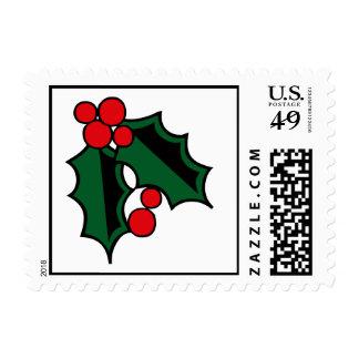 Acebo del navidad sello