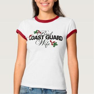 Acebo orgulloso de la esposa del guardacostas remera