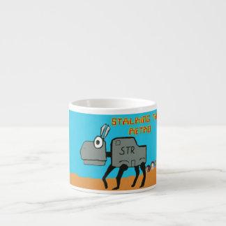Acecho del retro taza espresso
