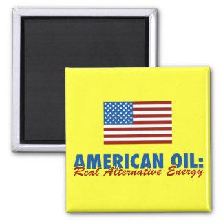 Aceite americano: Energía alternativa real Imán Cuadrado