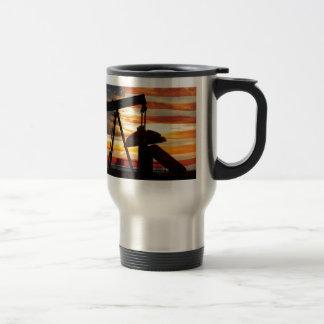 Aceite americano taza de viaje de acero inoxidable