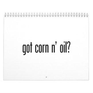 aceite conseguido del maíz n calendario