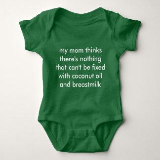 aceite de coco y leche materna playera