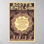 Aceite de hígado de bacalao de la emulsión de Scot Poster