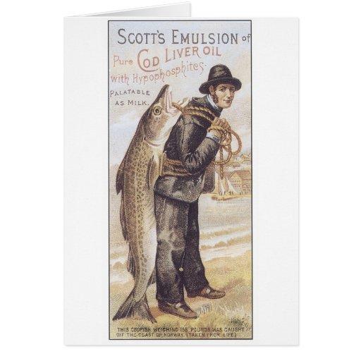 Aceite de hígado de bacalao de la emulsión de Scot Felicitacion