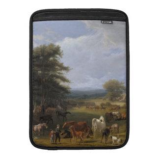 Aceite de la granja del caballo del señor río en l fundas macbook air