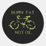 Aceite de la grasa de la quemadura no etiquetas redondas