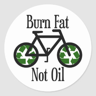 Aceite de la grasa de la quemadura no pegatina redonda