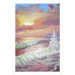 Aceite de la lona del paisaje marino 18x24 hermoso papelería