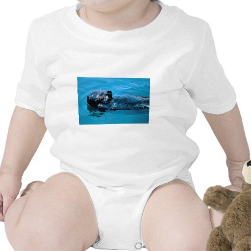 Aceite de la nutria de mar traje de bebé