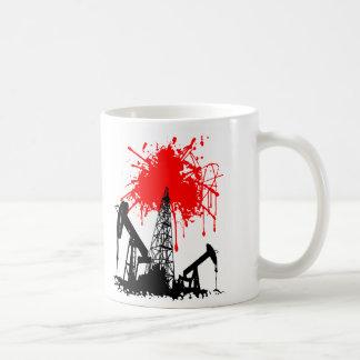 Aceite de la sangre tazas de café